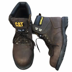 Caterpillar Steel Toe Work Boot Brown Leather 11